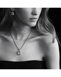 David Yurman - Dy Signature Oval Pendant with Black Onyx and Diamonds - Lyst