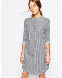 SELECTED - Blue Livi Shirt Dress In Pinstripe - Lyst