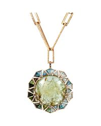 Nak Armstrong | Metallic Mixed Gemstone Pendant Necklace | Lyst
