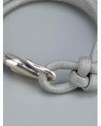 Helena Rohner - Gray Knotted Hook Bracelet - Lyst