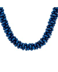 John Lewis | Blue Twisted Bead Long Necklace | Lyst