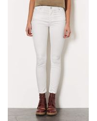 TOPSHOP | Moto Winter White Leigh Jeans | Lyst