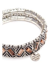 Philippe Audibert | Metallic Loa Ethnic Crystal Elasticated Bracelet | Lyst