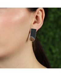 Todd Reed - Metallic Raw Diamond Bar Earrings - Lyst