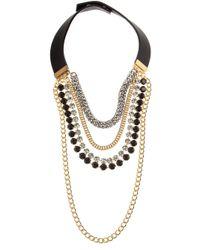 Marni | Metallic Multi Chain Collar Necklace | Lyst