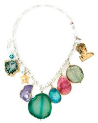 Katerina Psoma   Multicolor Stone Charm Necklace   Lyst