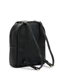Kensie | Black Faux Leather Convertible Backpack | Lyst