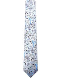 Duchamp | Blue Voliere Floral Silk Tie for Men | Lyst