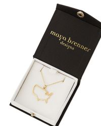 Maya Brenner Designs - Metallic 14-karat Gold Usa Necklace - Lyst