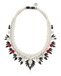 Ellen Conde - White Dipped In Rhodium Necklace - Lyst