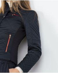 Zara | Blue Quilted Jacket | Lyst