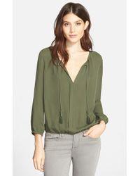 Joie | Green 'jacinta' Silk Blouse | Lyst