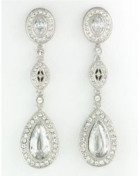 Nadri | Metallic Rhodium-plated Cubic Zirconia Drop Earrings | Lyst