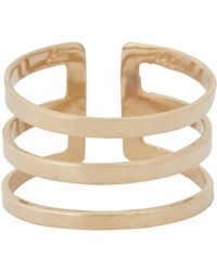 Loren Stewart - Metallic Gold Midi Cuff Ring - Lyst