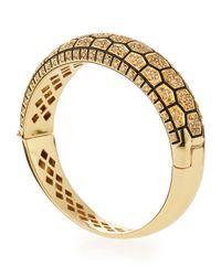Roberto Coin   Yellow Tortoise Bracelet With Diamonds   Lyst