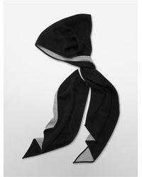 Calvin Klein | Black White Label Reversible Angled Scarf | Lyst