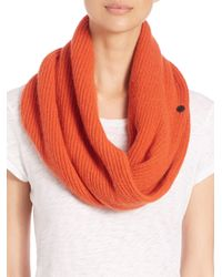 Rag & Bone | Orange Cynthia Cashmere & Wool Circle Scarf | Lyst