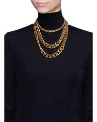 Ela Stone | Metallic 'editha' Graduated Triple Chain Necklace | Lyst