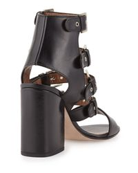 Laurence Dacade - Black Kloe Leather Buckle Cage Sandal - Lyst