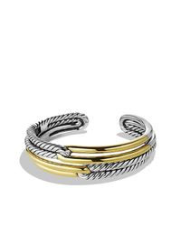 David Yurman | Metallic Labyrinth Double-loop Cuff Bracelet Bracelet With Gold | Lyst