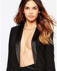 ASOS | Metallic 70s Disc Torque Body Harness | Lyst