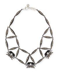 Lulu Frost - Black Larkspur Crystal Web Necklace - Lyst