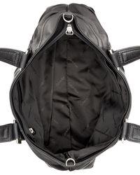 Calvin Klein - Black Vintage Leather Satchel - Lyst