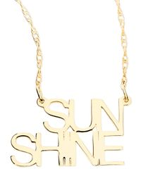 Jennifer Zeuner - Metallic 18k White Gold Vermeil Sunshine Necklace - Lyst