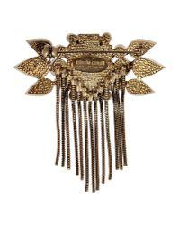 Roberto Cavalli | Metallic Brooch | Lyst