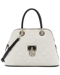 Guess | Natural Aliza Dome Satchel | Lyst