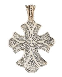 Konstantino | Metallic Sterling Silver Filigree Cross Pendant | Lyst