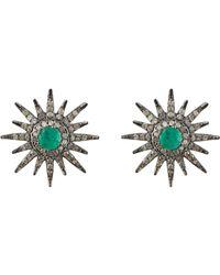 Carole Shashona | Green Women's Vert Sparkler Studs | Lyst