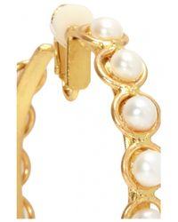 Sylvia Toledano | Metallic Pearl Hoops | Lyst