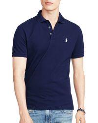 Ralph Lauren | Blue Polo Stretch-mesh Slim Fit Polo Shirt for Men | Lyst