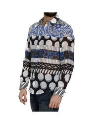 John Richmond | Multicolor Cotton Voile And Printed Silk Shirt for Men | Lyst