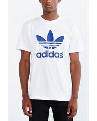 Adidas Originals - White Originals Mirror Trefoil Tee for Men - Lyst