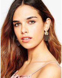 ASOS | Metallic Occasion Filigree Double Earrings | Lyst