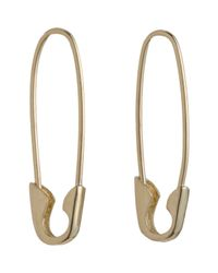 Loren Stewart | Metallic Yellow Gold Safety Pin Earrings Size Os | Lyst