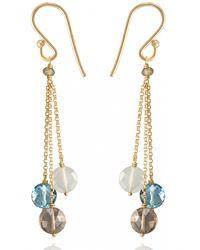 Perle De Lune Chez Carré Y. | Metallic Pastille Chain Earrings | Lyst