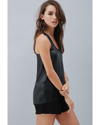 Forever 21 - Black Private Archives Perforated Tank - Lyst