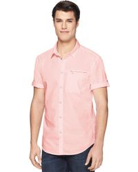 Calvin Klein Jeans | Pink Modern Fit Pigment Dyed Utility Sportshirt for Men | Lyst