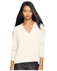 Polo Ralph Lauren | Natural V-neck Sweater | Lyst