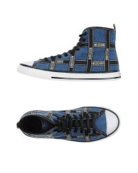 Moschino | Blue High-tops & Trainers for Men | Lyst
