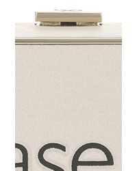 Anya Hindmarch - White Please Pay Here Imperial Clutch - Lyst