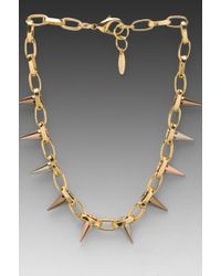 Joomi Lim - Single Row Spike Choker in Metallic Gold - Lyst
