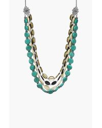 Sam Edelman | Multicolor Beaded Multi-row Necklace - Multi | Lyst