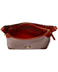 Dooney & Bourke - Natural Pebble Leather Hobo - Lyst