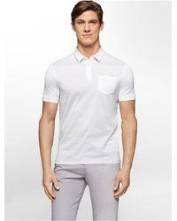 Calvin Klein - White Label Classic Fit Jacquard Stripe Cotton Polo Shirt for Men - Lyst