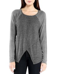Michael Stars | Gray Crossover Front Pullover | Lyst