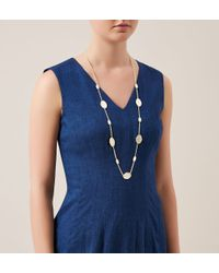 Hobbs | Metallic Polly Longline Necklace | Lyst